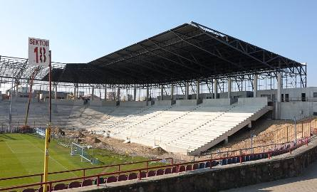 Co dzieje się na budowie stadionu przy ulicy Twardowskiego w Szczecinie? Sprawdzamy - 7.04.2020