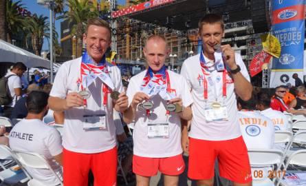 Na zdjęciu od lewej nasi reprezentanci: Mateusz Telesz, Andrzej Szpunar, Arkadiusz Janicki