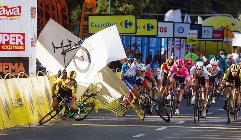 Film do artykułu: Potworny wypadek na Tour de Pologne w Katowicach. Jakobsen przeszedł wielogodzinną operację