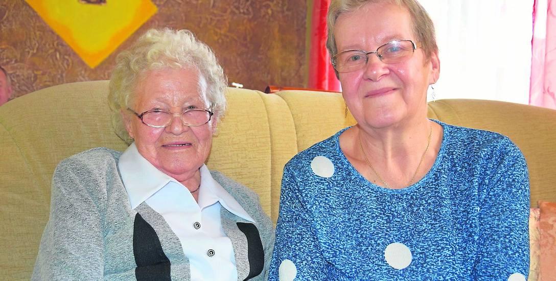 Bronisława Borysewicz ze swoją przyjaciółką i opiekunką Danutą Sawicką.