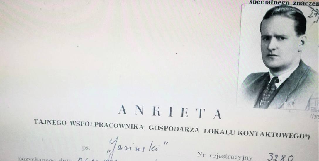 Dokumenty w archiwum IPN dotyczącego Stanisława Maurycego Komorowskiego