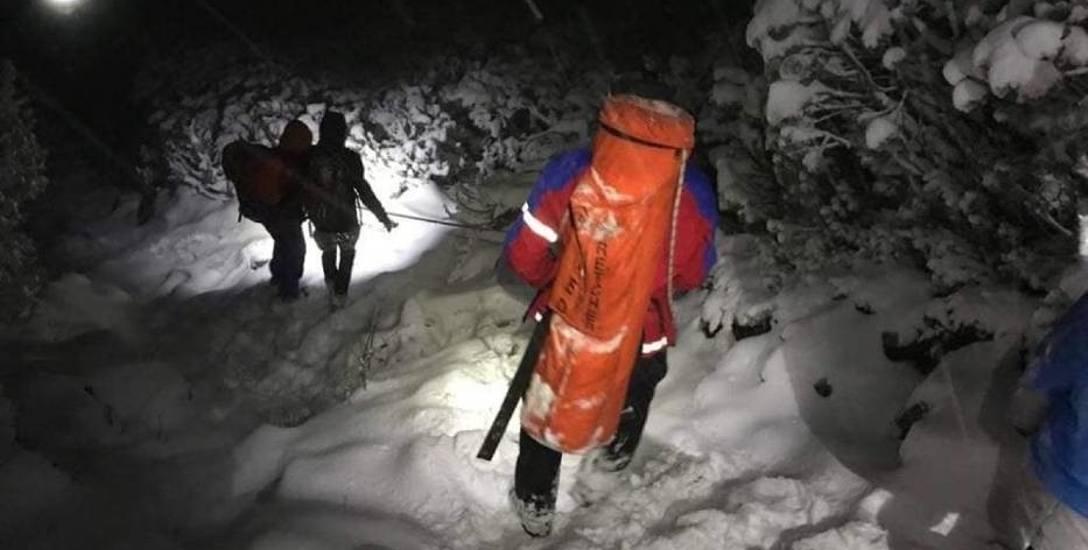 Ratownicy Grupy Beskidzkiej GOPR pomogli aż dziewięciu turystom, którzy zgubili się w masywie Babiej Góry