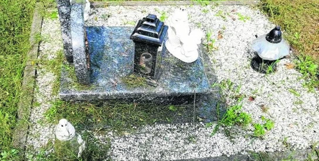 Kto uszkodził nagrobek na cmentarzu w Kiełpinie?