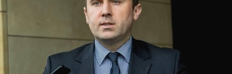 Wiceprezydent Gdańska Piotr Borawski podczas konferencji prasowej