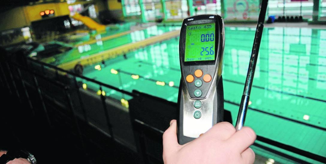 W Parku Wodnym regularnie mierzona jest nie tylko temperatura wody, ale też i powietrza