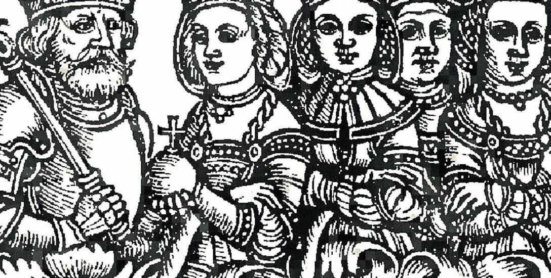 Cztery żony króla Jagiełły - Jadwiga Andegaweńska, Anna Cylejska, Elżbieta Granowska i Zofia Holszańska