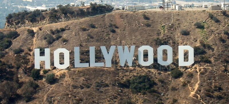 Panorama hollywoodzkich wzgórz z 2009 roku