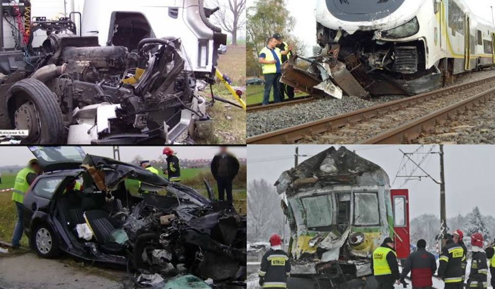 Film do artykułu: Horror na torach i przejazdach kolejowych. Wstrząsające nagrania z rogatek [WIDEO, ZDJĘCIA]