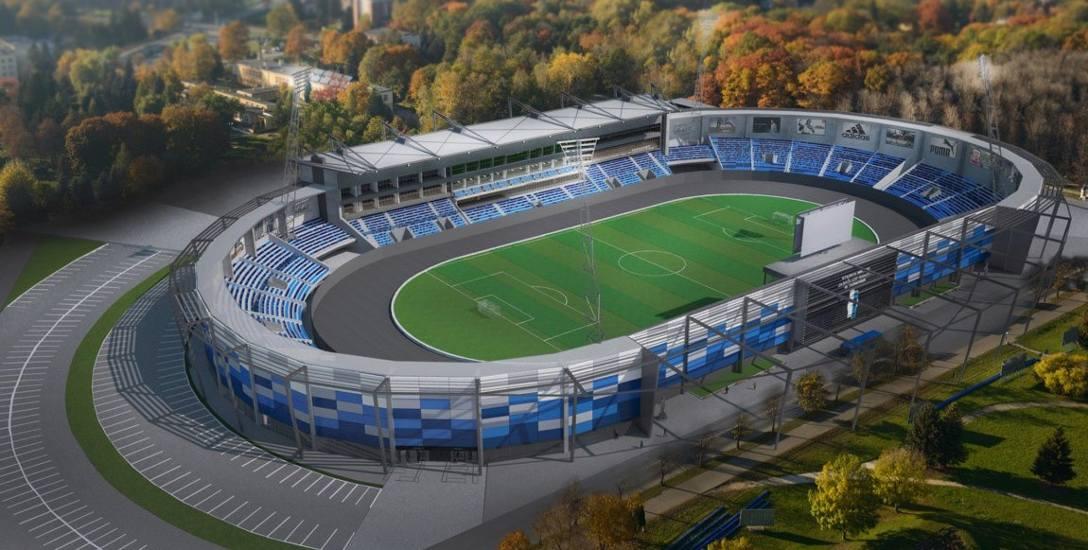 Przebudowany stadion miejski w Tarnowie ma być przystosowany do rozgrywania meczów żużlowych oraz piłkarskich