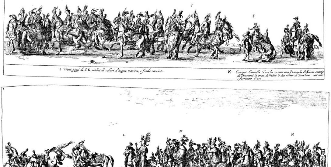 Stefano Della Bella, Wjazd Jerzego Ossolińskiego do Rzymu w 1633 r. (fragmenty)