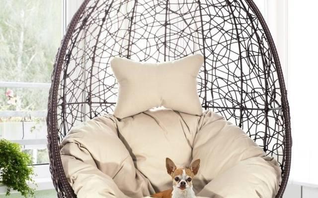 Fotele wiszące są bardzo dekoracyjne i wygodne. Równomierne kołysanie szybko wycisza umysł i rozluźnia napięcia w ciele. Wiosną mebel można wynieść na