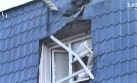 Dach ostrzelanego konsulatu w Łucku