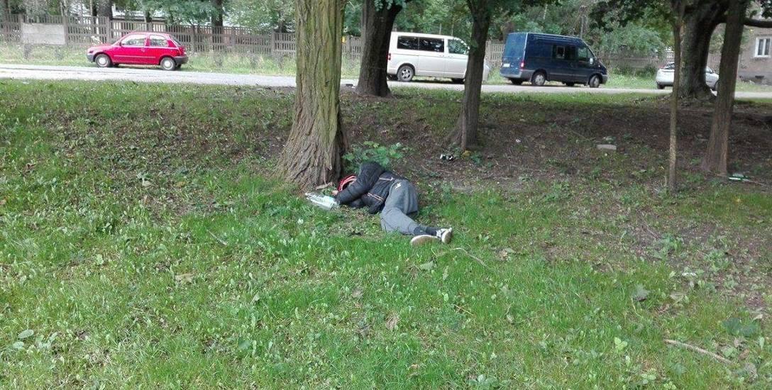 Pijani bezdomni zakłócają spokój mieszkańców łódzkiego osiedla Stoki w Łodzi