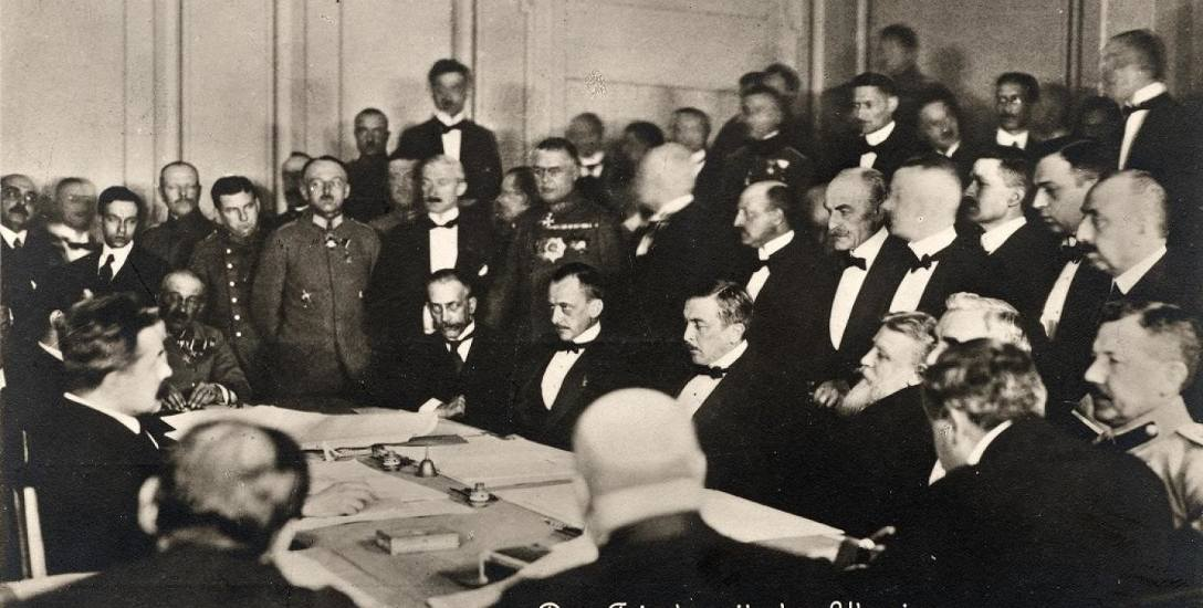 Podpisanie pokoju z Ukrainą 9 lutego 1918 roku w Brześciu