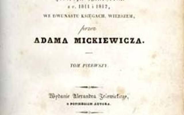 Adam Mickiewicz Pan Tadeusz Wielki Spr Wok Pana Tadeusza
