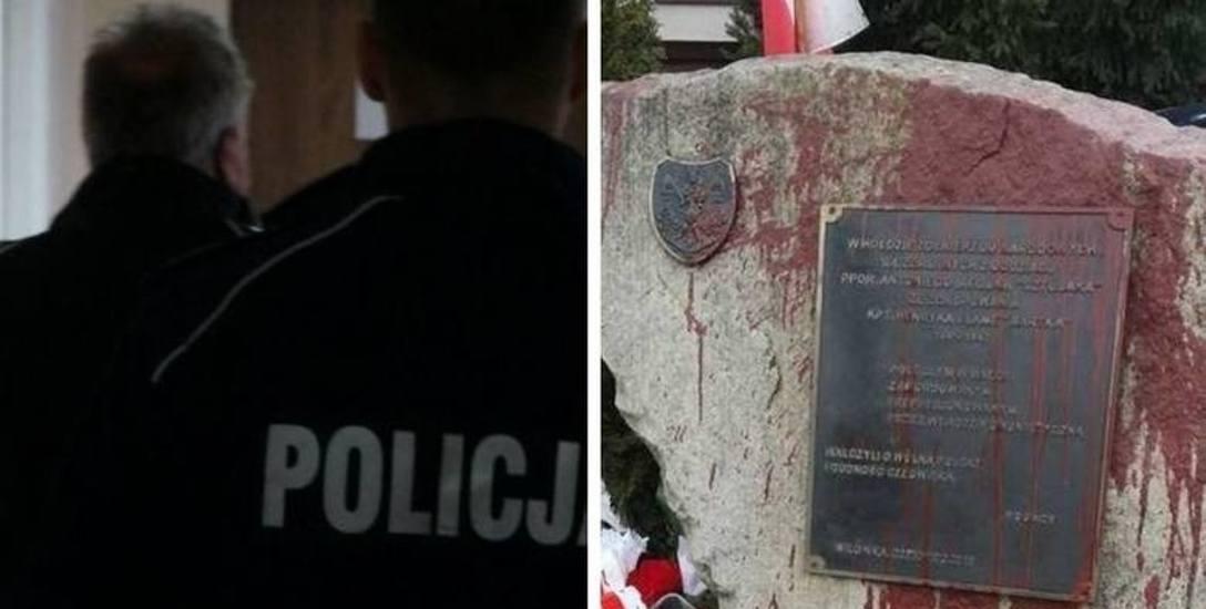 Oblał pomnik żołnierzy NSZ farbą i zaproponował karę