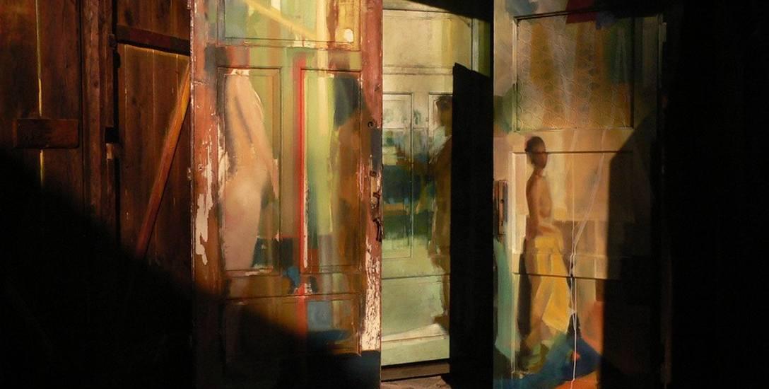 """Obiekty z cyklu """"Przejścia"""", 1990-2020, olej, drewno"""