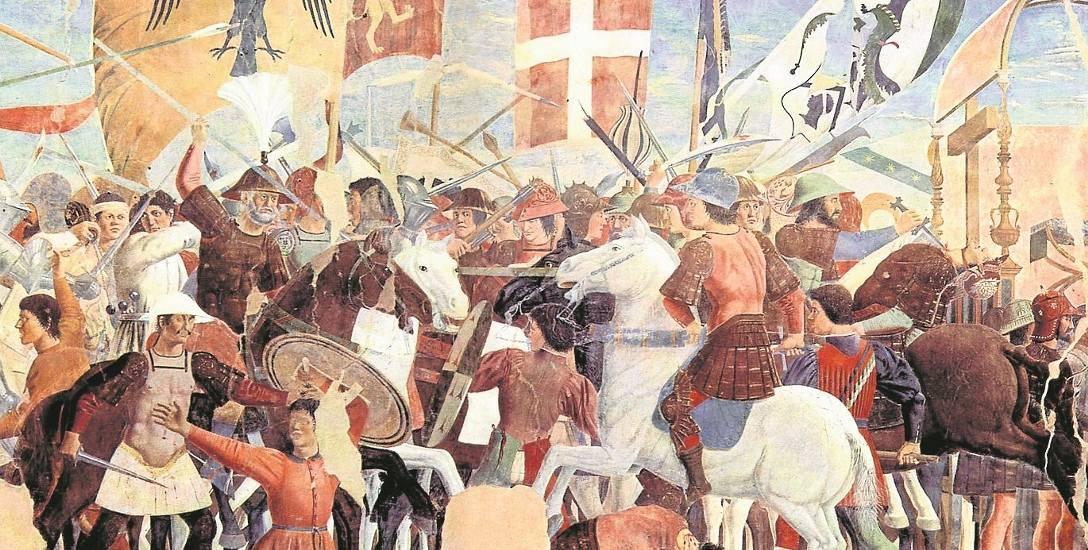 Bitwa między bizantyńskimi wojskami Herakliusza i Persami Chosroesa II, fresk Piero della Francesca z XV w.