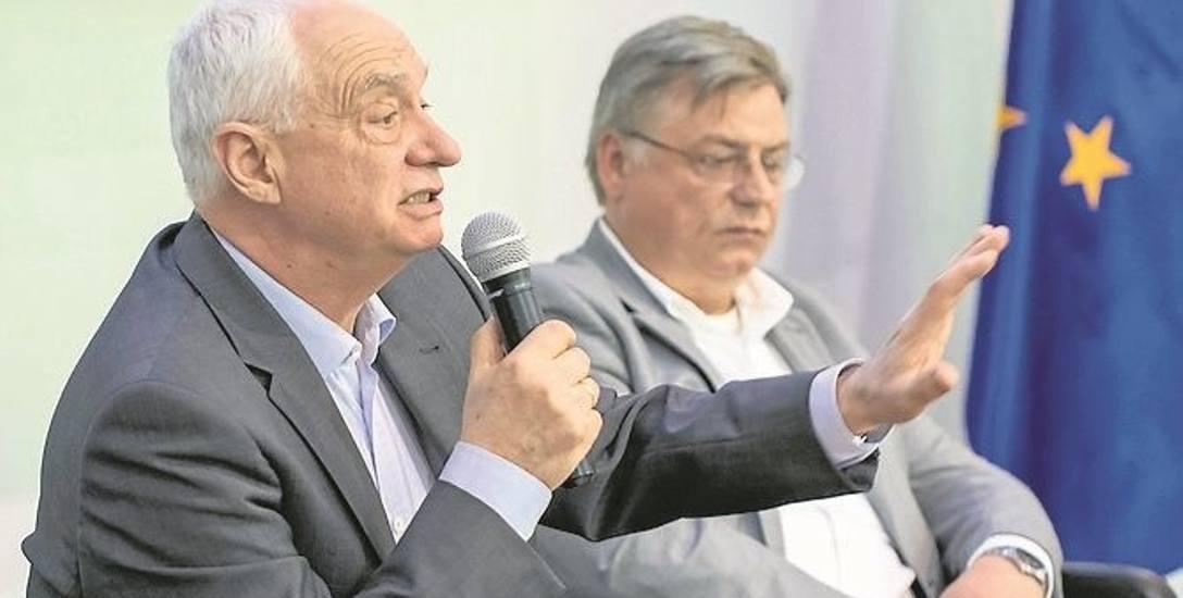 Janusz Zemke (tu w tracie debaty z Kosmą Złotowskim) nie podjął jeszcze decyzji, czy będzie kandydował w kolejnych wyborach do PE