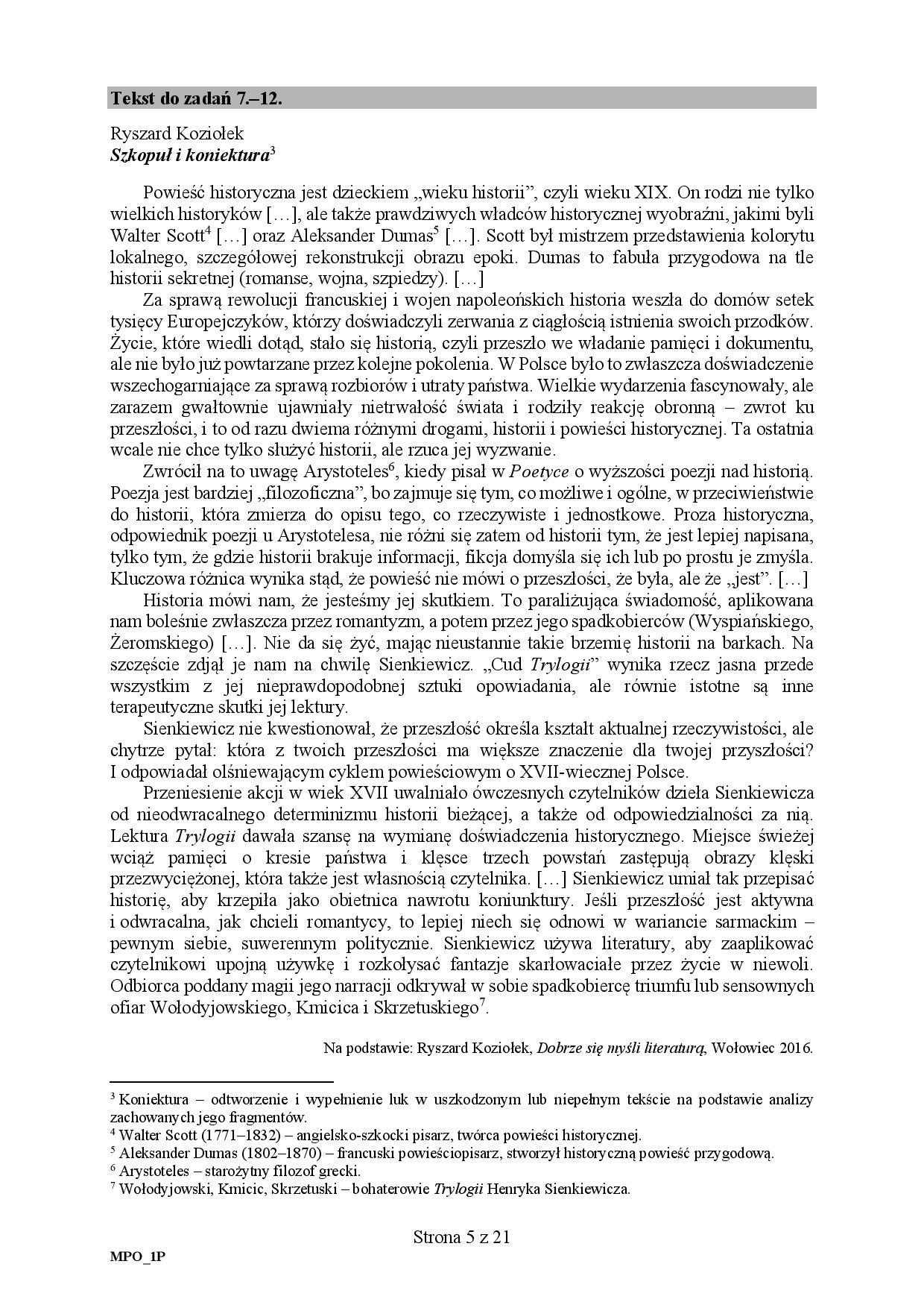 matura podstawowa polski 2019 odpowiedzi