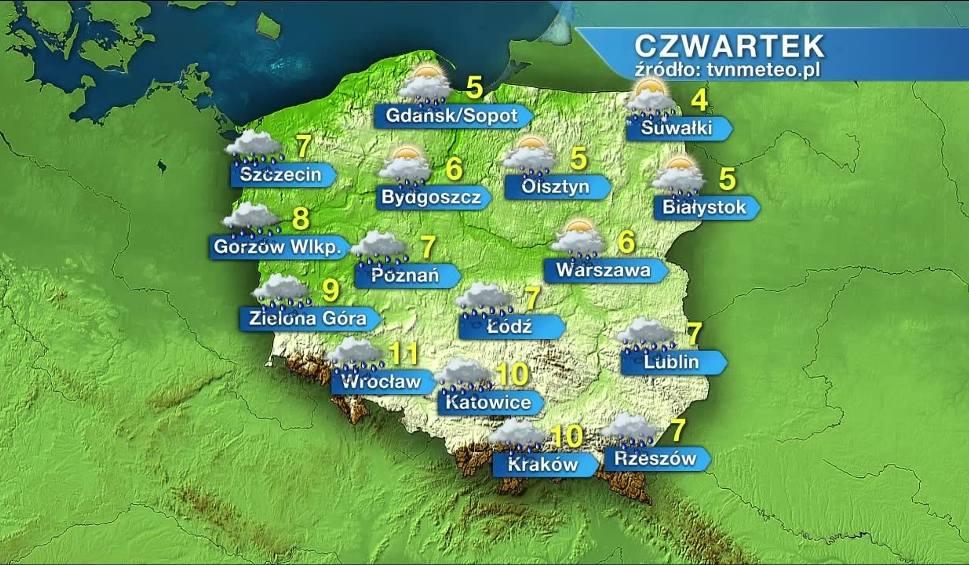 Film do artykułu: Deszcz nie odpuszcza, w czwartek będzie padać w całej Polsce