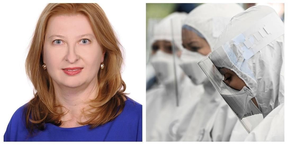 Dr Joanną Jursą-Kuleszą, kierownik Zakładu Mikrobiologii Lekarskiej PUM