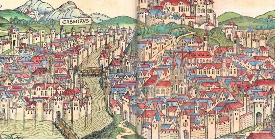 Widok Krakowa w Kronice Hartmanna Schedla z 1493. W czasach nowożytnych miasto było najludniejsze w Polsce