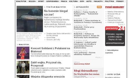 A tak wyglądała stara strona portalu poranny.pl.