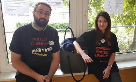 Protest głodowy medyków w Łodzi