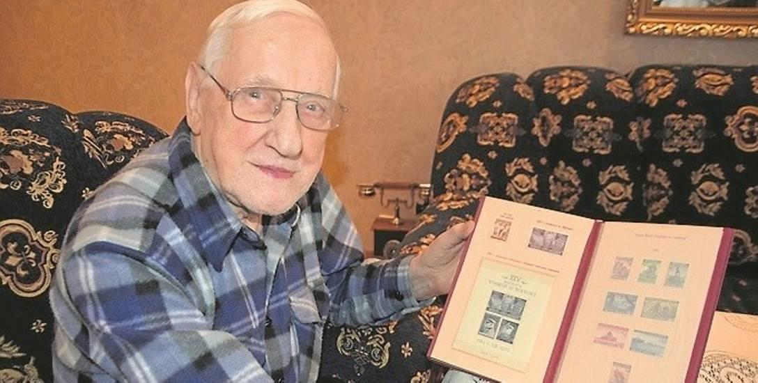 Prof. Zygmunt Wiatrowski wyspecjalizował się w kolekcjonowaniu znaczków amerykańskich.