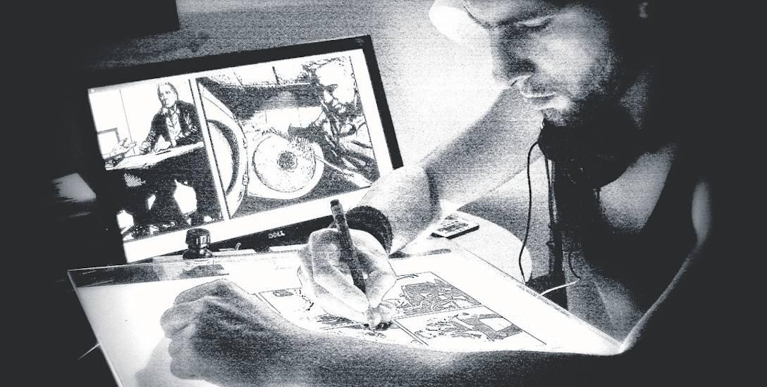 Grzegorz Kaczmarczyk rysuje komiksy z pasji. - Nie znam komiksiarza, który za to wyżyje - mówi