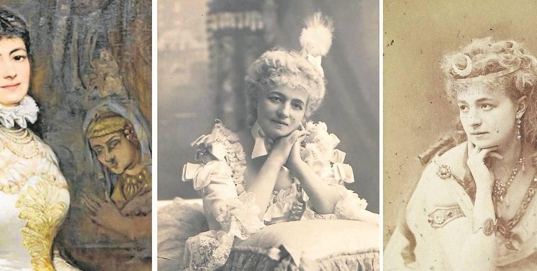 Od lewej: Tadeusz Ajdukiewicz, Portret Heleny Modrzejewskiej, 1880 roku  w zbiorach Muzeum Narodowego w Krakowie; Helena Modrzejewska w Chicago; Modrzejewska