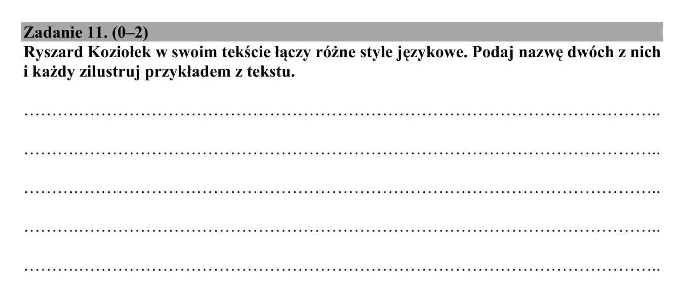 matura 2021 polski klucz