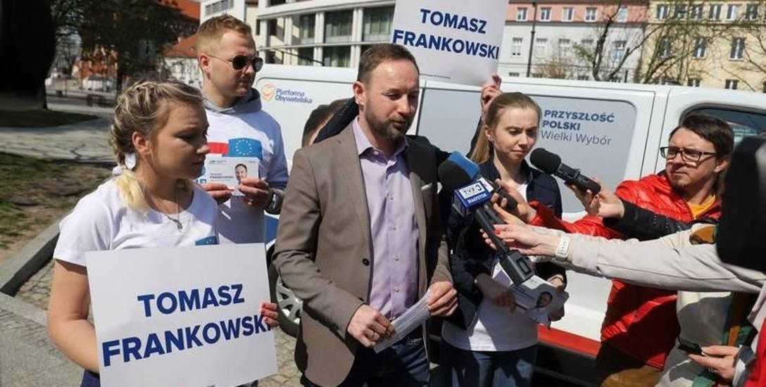 Tomasz Frankowski obecnie prowadzi najbardziej intensywną kampanię wśród podlaskich kandydatów KE. Ze względu na swoją sportową przeszłość jego nazwisko