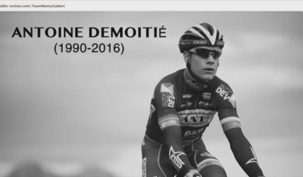 Film do artykułu: Wypadek na trasie wyścigu Gent - Wevelgem. Nie żyje Antoine Demoitie. Potrącił go motocyklista