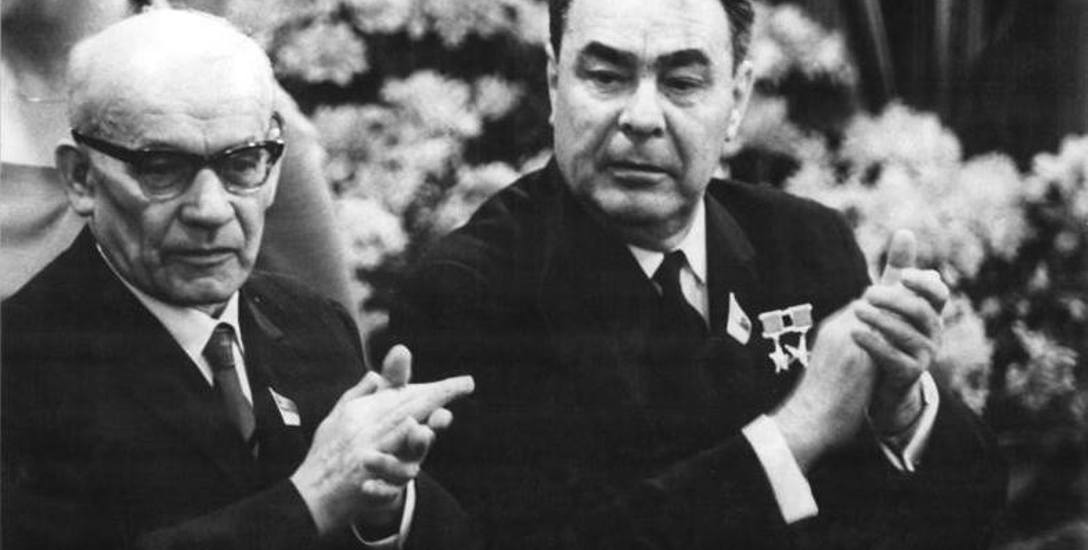 Gomułka i Leonid Breżniew w NRD, 1967 rok