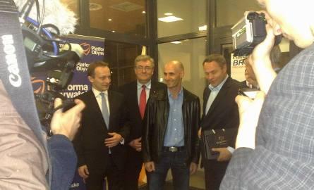 Tomasz Gollob przybył na wieczór wyborczy Rafała Bruskiego.