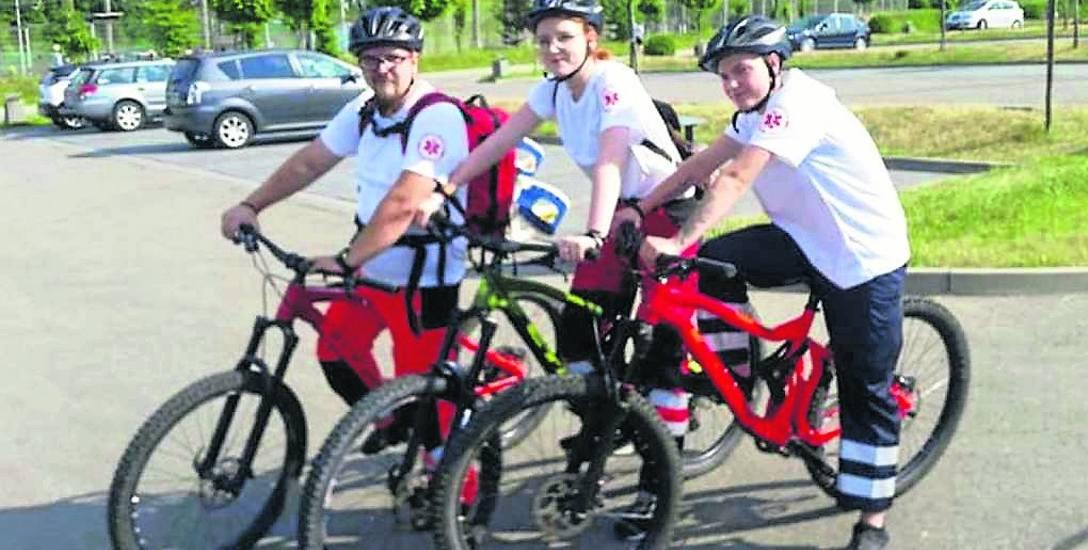 Rowerowy patrol pierwszej pomocy wyjechał w teren po raz pierwszy w miniony weekend