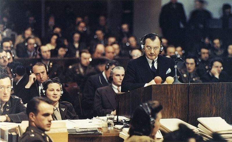 Robert H. Jackson, główny oskarżyciel Międzynarodowego Trybunału Wojskwoego w Norymberze
