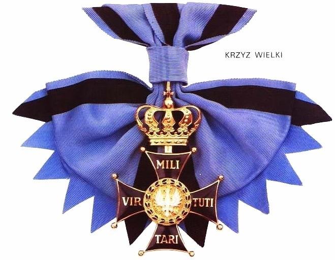 Awers Krzyża Wielkiego Virtuti Militari