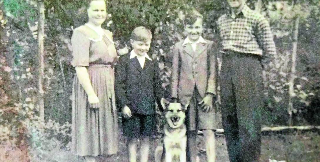 Rodzice i ja z bratem Henrykiem