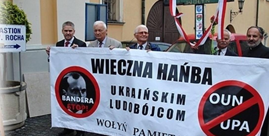 Tak przed rokiem w Żarach upamiętniono rocznice rzezi wołyńskiej.