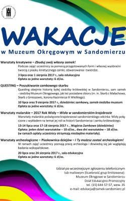 603223dfcd Wakacje w muzeum w Sandomierzu. Wiele atrakcji dla dzieci i młodzieży