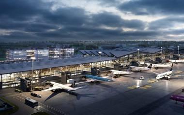 Wizualizacja pirsu terminalu T2 na lotnisku