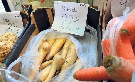 Pietruszka kosztuje już więcej niż schab.