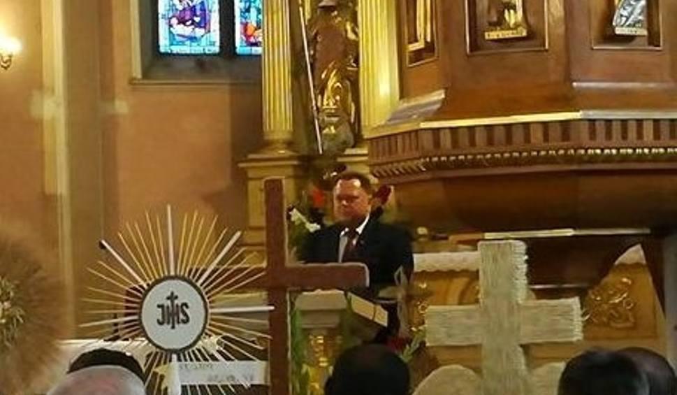 """Film do artykułu: Jarosław Zieliński na dożynkach w Nowych Piekutach: """"Były różne złe siły"""" (wideo)"""