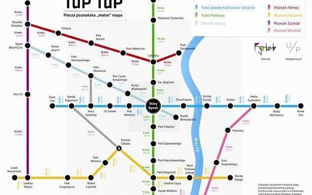 mapa tup tup piesza metro mapa powsta a w poznaniu pierwsza w polsce. Black Bedroom Furniture Sets. Home Design Ideas