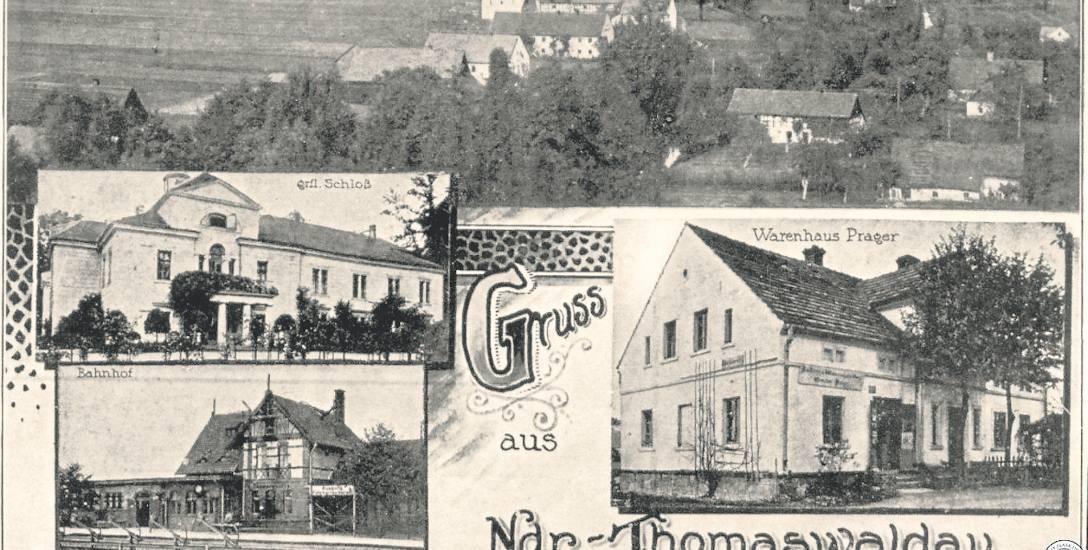 Pocztówka z Tomaszowa Bolesławieckiego, przełom lat 20. i 30. W tym rejonie osiedliło wielu Polaków z Bośni