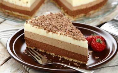 Mus z trzech czekolad - ciasto bez pieczenia.