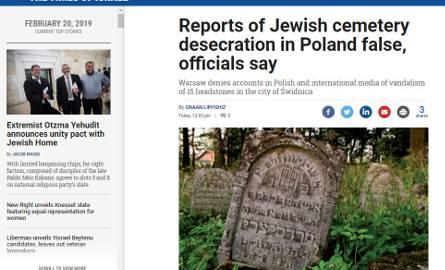 Dewastacja żydowskiego cmentarza w Świdnicy to fake news. Znamy źródło dezinformacji